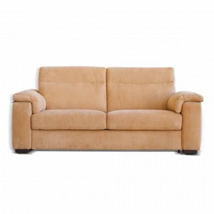 Canapea 2 locuri de proiectare tesatura Lilia sau piele, made in Italy