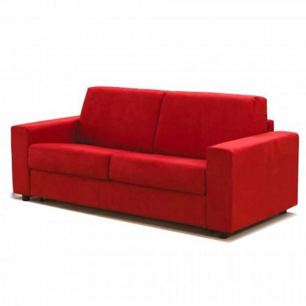 Canapea maxi 2 locuri Mora, fabricată în Italia, tapițerie din țesătură / piele