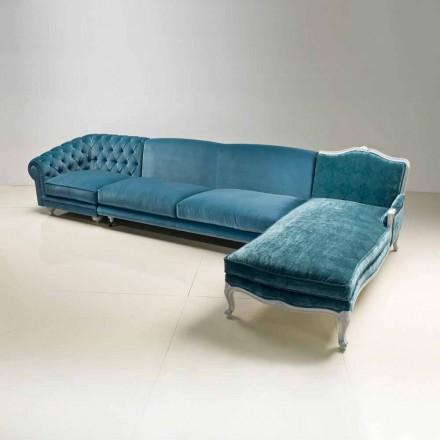 Corner canapea de lux design clasic, made in Italy, Narciso