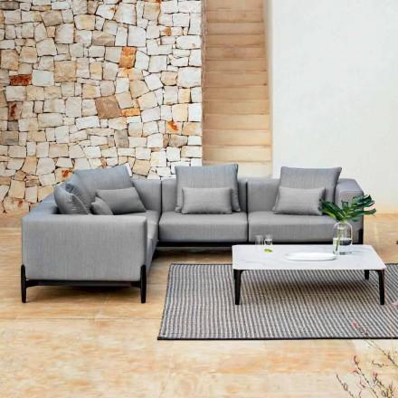 Canapea de colț în aer liber cu 5 locuri din aluminiu 3 finisaje, lux - Filomena