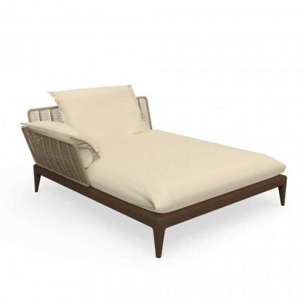 Canapea de șlefuit în aer liber din teacă și țesătură - Cruise Teak de Talenti