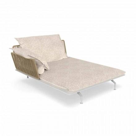 Canapea de șezlong pentru șlefuit din aluminiu și țesătură - Cruise Alu by Talenti