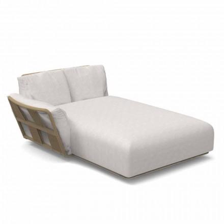 Canapea de grădină Chaise Longue din țesătură și aluminiu - Scacco by Talenti