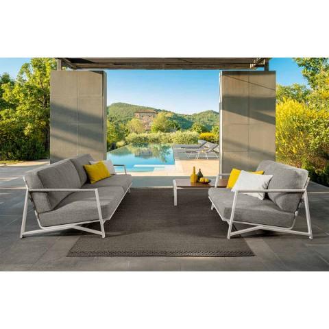 Canapea exterioară cu 2 locuri din aluminiu și țesătură - Cottage Luxury by Talenti