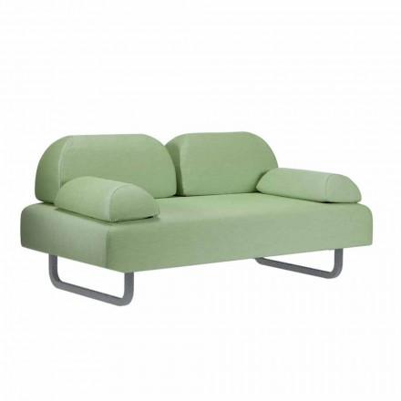 Canapea exterioară cu 2 locuri din țesătură și metal realizată în design italian - Selia