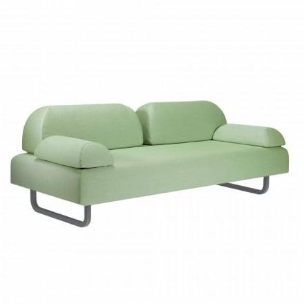 Canapea design 3 locuri din metal și țesătură realizată în Italia - Selia