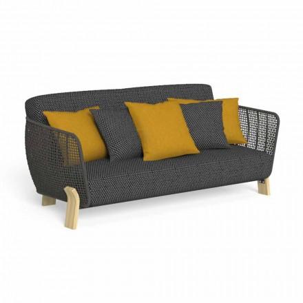 Canapea de exterior în țesătură și frânghie tapițată de înaltă calitate - Argo by Talenti