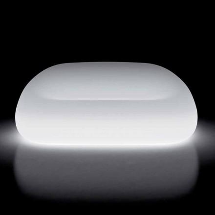 Canapea de exterior luminoasă cu lumină LED din polietilenă Made in Italy - Ervin