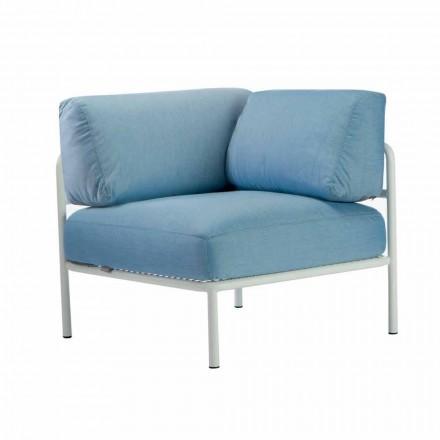 Canapea modulară din colț din metal și țesătură Fabricată în Italia - Cola