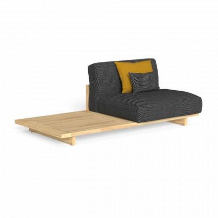 Canapea modulara de exterior cu masa dreapta sau stanga - Argo by Talenti