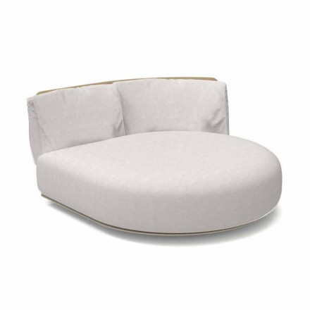 Canapea rotundă stângă modulară din stânga din aluminiu și țesătură - Scacco Talenti