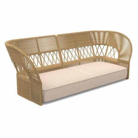 Canapea de grădină cu trei locuri de design modern - Cliff Decò by Talenti