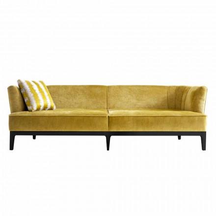 Canapea de design tapițată în lemn de fag Grilli Kipling a făcut din Italia