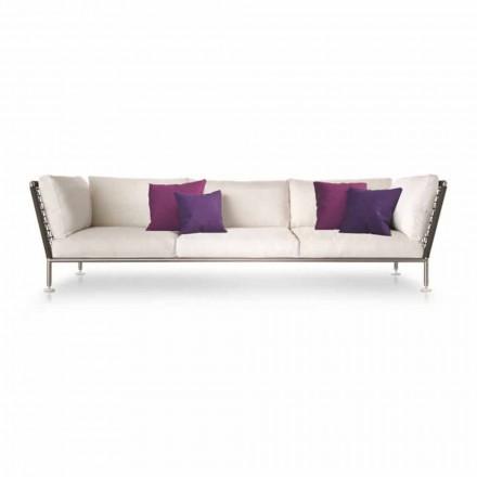 Canapea de exterior modernă din material alb fabricată în Italia - Ontario