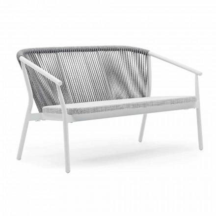 Canapea de grădină din două locuri, din aluminiu și țesătură - Smart By Varaschin