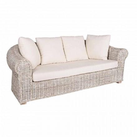 Canapea pentru interior sau interior 3 locuri din Rattan Homemotion - Francioso