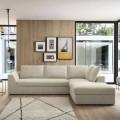 Canapea extensibilă de colț design din țesătură bej Fabricat în Italia - Ortensia