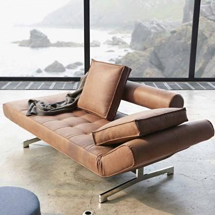 Canapea pat tapițată Ghia by Innovation modernă cu picioare cromate