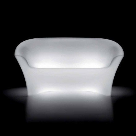 Canapea strălucitoare în aer liber din polietilenă cu lumină LED Made in Italy - Conda