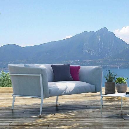 Canapea modernă pentru exterior sau interior, cu design amovibil, făcut în Italia - Carmine