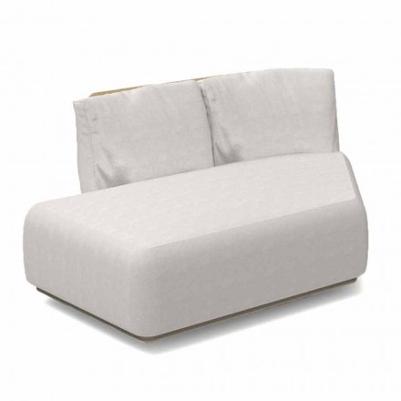 Canapea modulară oblică dreapta pentru aluminiu și țesătură exterioară - Scacco Talenti
