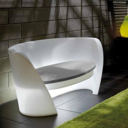 Slide Rap design canapea interioară din polietilenă fabricată în Italia