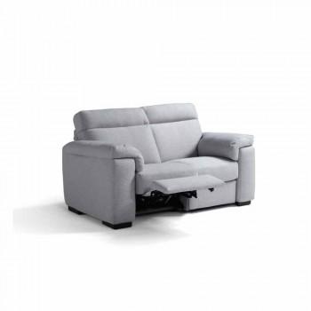 Canapea 2 locuri de relaxare electrice, 2 scaune electrice Lilia, realizate în Italia
