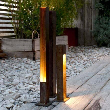 Spot reflectorizant în aer liber în finisaj de fier Corten Fabricat în Italia - Sparta