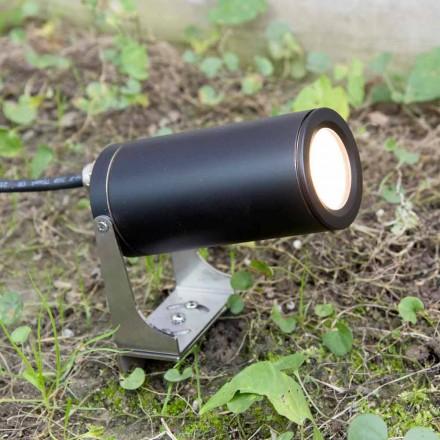 Spot de grădină din aluminiu anodizat negru cu LED Fabricat în Italia - Forla