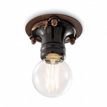 Plafonul de lumina reflectoarelor ceramice retro si metal Cloe Ferroluce