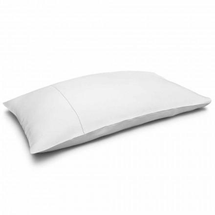 Fata de pernă de pat alb pur crem, fabricată în Italia - Chiana