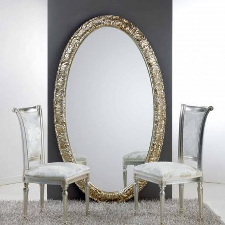 Oglindă ovală mare de podea / perete de viață, 114x190 cm