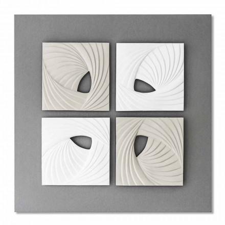 Instalarea pereților decoraționali cu design modern alb și gri - Bossy