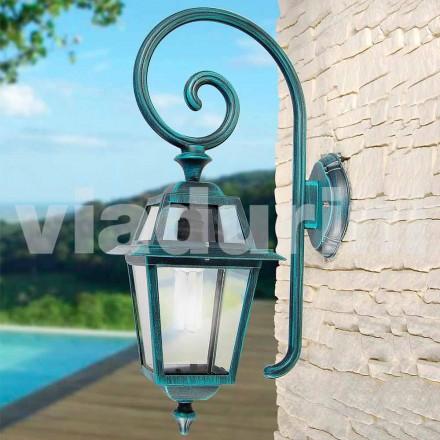 Lampa de perete de gradina mulade cu aluminiu, produsa in Italia, Kristel