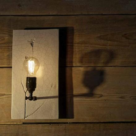 Lampă de perete realizată manual din ceramică și fier Made in Italy - Floria