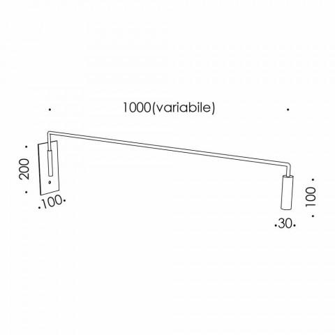 Aplica de exterior din fier cu LED reglabil Made in Italy - Forla