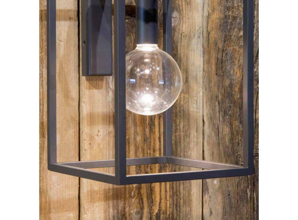 Aplica de exterior din fier și aluminiu cu LED Fabricat în Italia - Cubola