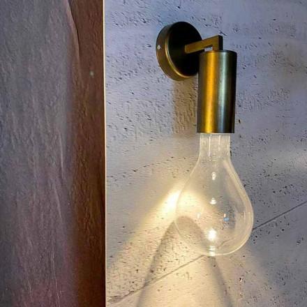 Lampă de perete realizată manual din aluminiu și sticlă Made in Italy - Ravenna