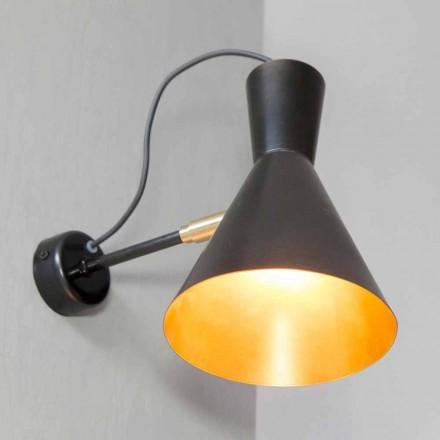 Lampă de perete realizată manual din fier și aluminiu Fabricată în Italia - Selina
