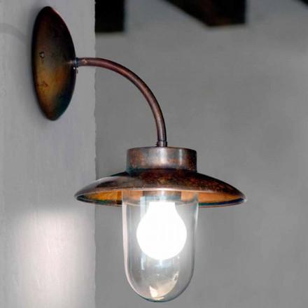 lampa de perete La Traviata de cupru, sticlă, alamă antic