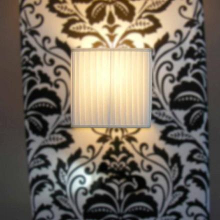 Lampă de perete modernă din mătase din bambus, din culoarea fildeșului