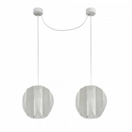 Lampa de suspensie 2 lumini metacrilat, diametru 22cm, Desire
