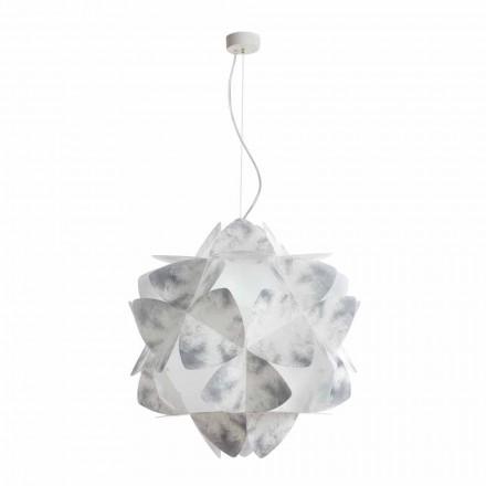 pandantiv lampa 3 lumini gri nuanțe, cu diametrul de 63 cm, KALY