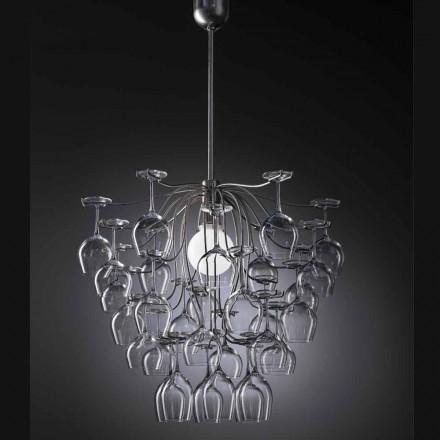pandantiv lampa 30 pahare rasturnata Sauvignon