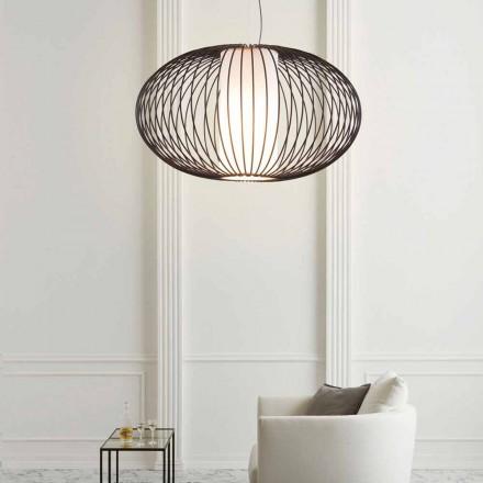 pandantiv lampa de oțel vopsit, 90xh.53x L.cavo 100 cm Joy