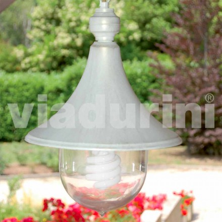 Lampă de pandantiv exterior realizată cu aluminiu alb, făcută din Italia, Anusca