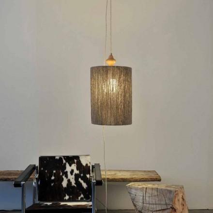 Pendant lampă / lampă de podea din lemn și 100% Bois lână