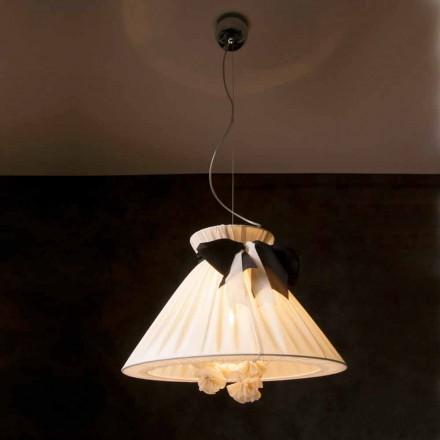 Lampa de design clasic cu pandantiv din mătase Chanel