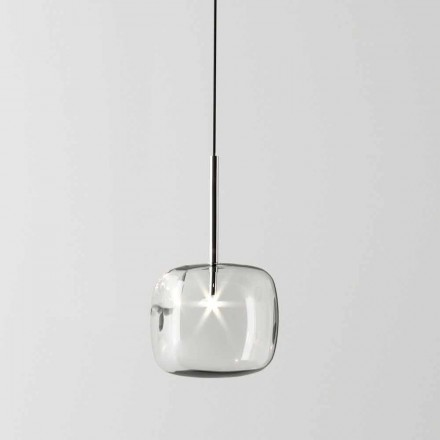 Lampă suspendată design din metal și sticlă Made in Italy - Donatina