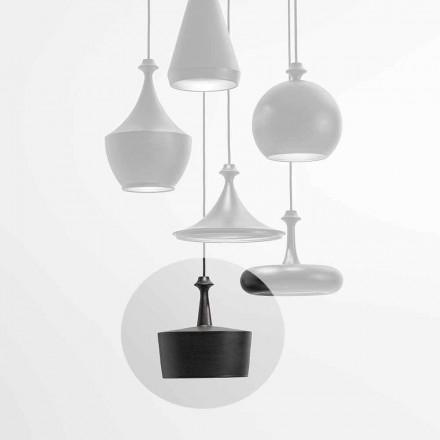 Lampa de suspendare a luminii ceramice cu LED - sclipici L6 Aldo Bernardi